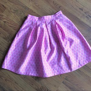 Dresses & Skirts - Pink and white patterned circle skirt